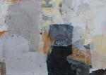 Decollagiertes Plakatmaterial auf Leinwand, 50x70, 2014