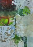 Dekollagiertes Plakatmaterial auf Leinwand, 70x50, 2014